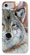 Timber Wolf IPhone Case by David Lloyd Glover