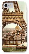 Tour Eiffel And Exposition Universelle Paris IPhone Case by Georgia Fowler