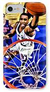 Tracy Mcgrady Painting IPhone Case by Florian Rodarte