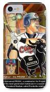 Travis Hafner The Pronk IPhone Case by Ray Tapajna