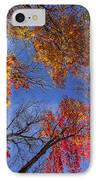 Treetops In Fall Forest IPhone Case by Elena Elisseeva