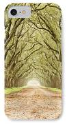 Tunnel In The Trees IPhone Case by Scott Pellegrin