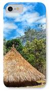 Two Indigenous Huts IPhone Case by Jess Kraft