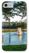 Umatilla Fountain Pond IPhone Case by Robert Bales
