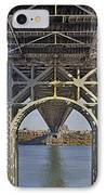 Under The George Washington Bridge I IPhone Case by Susan Candelario