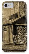 Vermont Maple Sugar Shack Circa 1954 IPhone Case by Edward Fielding