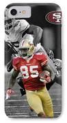 Vernon Davis 49ers IPhone Case by Joe Hamilton