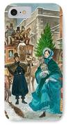 Victorian Christmas Scene IPhone Case by Peter Jackson