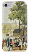 View From The North Bank Of The Serpentine IPhone Case by Philip Brannan