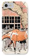 Viewing The Racehorse In The Paddock IPhone Case by Thelem