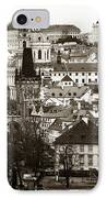 Vintage Prague IPhone Case by John Rizzuto