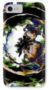Visions Echo In The Crystal Ball IPhone Case by Elizabeth McTaggart