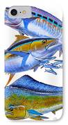Wahoo Tuna Dolphin IPhone Case by Carey Chen
