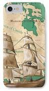 Watercolor Map 2 IPhone Case by Debbie DeWitt