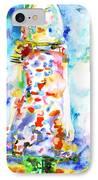 Watercolor Woman.18 IPhone Case by Fabrizio Cassetta