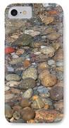 Wave Over Beautiful Rocks IPhone Case by Carol Groenen