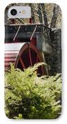 Wayside Grist Mill 3 IPhone Case by Dennis Coates