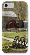 Wayside Grist Mill 8 IPhone Case by Dennis Coates