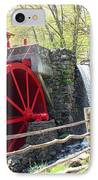 Wayside Inn Grist Mill IPhone Case by Barbara McDevitt