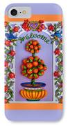 Welcome IPhone Case by Amy Vangsgard