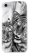 When Two Hearts Collide IPhone Case by Peter Piatt