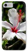 White Hibiscus IPhone Case by DUG Harpster