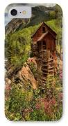 Wildflowers And Clouds IPhone Case by Adam Jewell