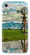 Windmill On The Hills IPhone Case by Artist and Photographer Laura Wrede
