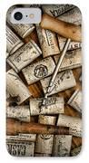Wine Corks On A Wooden Barrel IPhone Case by Paul Ward