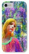 Wisteria IPhone Case by Jane Small