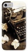 Words Punched On To Paper IPhone Case by Edward Fielding