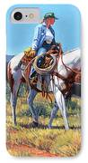 Working Cowgirl IPhone Case by Randy Follis