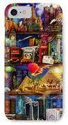 World Travel Book Shelf IPhone Case by Aimee Stewart