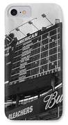 Wrigley Scoreboard Sans Color IPhone Case by David Bearden