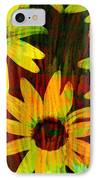 Yellow And Green Daisy Design IPhone Case by Ann Powell