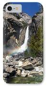Yosemite Falls Rainbow IPhone Case by Jane Rix