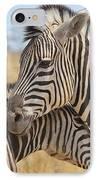 Zebra Bite Of Love IPhone Case by Hermanus A Alberts