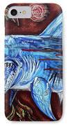 Zombie Eats Shark IPhone Case by Laura Barbosa