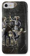 19th-century Coal Mining IPhone Case by Sheila Terry