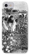 Cotton Industry, Early 20th Century IPhone Case by
