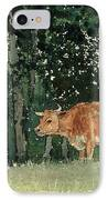 Cow In Pasture IPhone Case by Winslow Homer
