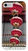 Four Lanterns IPhone Case by Kelley King