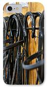 Horse Bridles Hanging In Stable IPhone Case by Elena Elisseeva