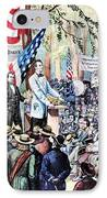 Lincoln-douglas Debate IPhone Case by Granger