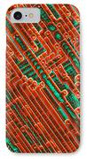 Microchip Circuitry, Sem IPhone Case by Power And Syred