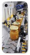 Preserve And Jam Bottling Production Line IPhone Case by Photostock-israel