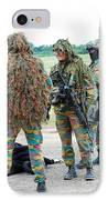 Soldiers Of The Special Forces Group IPhone Case by Luc De Jaeger