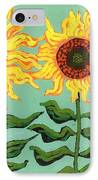 Three Sunflowers IPhone Case by Genevieve Esson