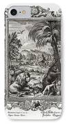 1731 Johann Scheuchzer Creation 6th Day IPhone Case by Paul D Stewart