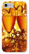 Romantic Holiday Celebration IPhone Case by Anna Om